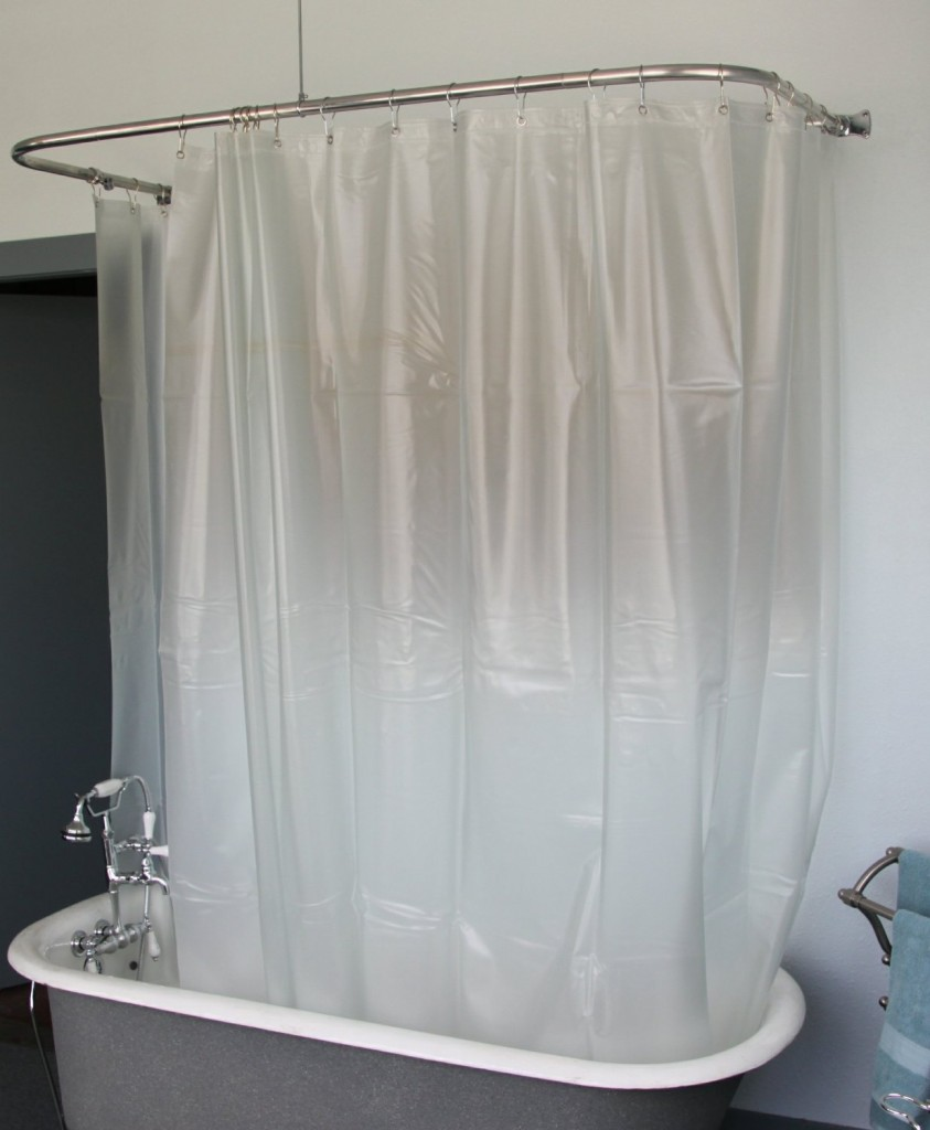 Claw Foot Tub Shower Curtain | Clawfoot Tub Curtain Rod Oval | Clawfoot Tub Shower Curtain