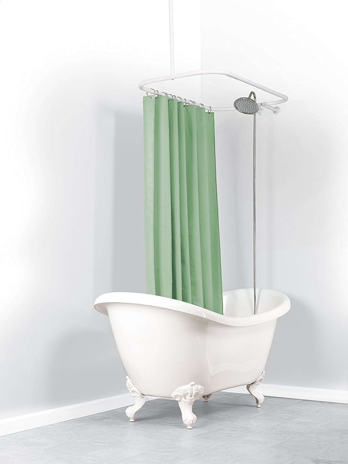 Curtain Shower Curtains For Round Tubs Clawfoot Tub Shower