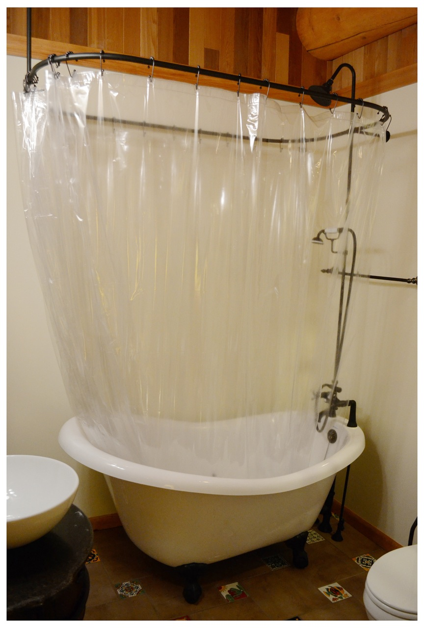 Clawfoot Shower Curtain Rod | Extra Long Clawfoot Tub | Clawfoot Tub Shower Curtain