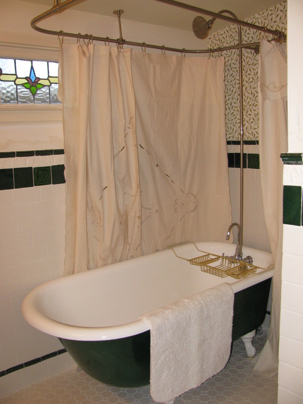 Clawfoot Tub Shower Curtain | Diy Clawfoot Tub Shower Curtain Rod | Shower Curtain Rod for Clawfoot Bathtub