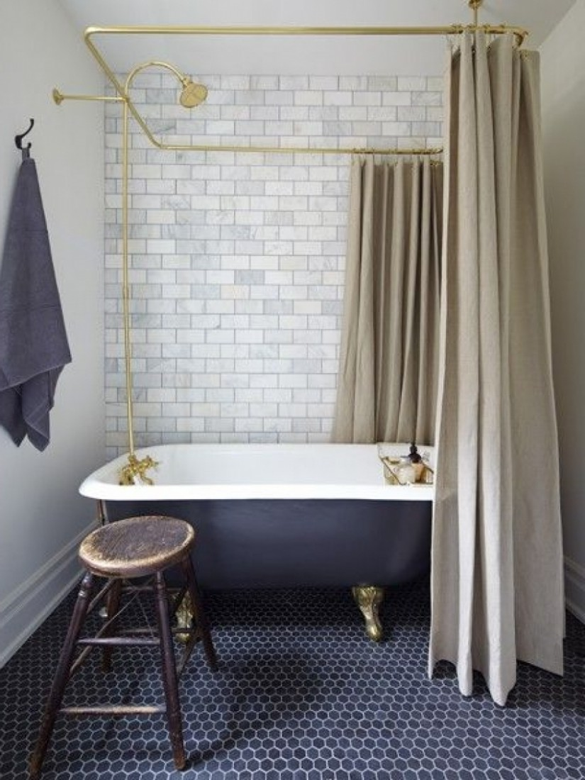Clawfoot Tub Shower Curtain | Extra Long Clawfoot Tub | Free Standing Tub Shower Curtain