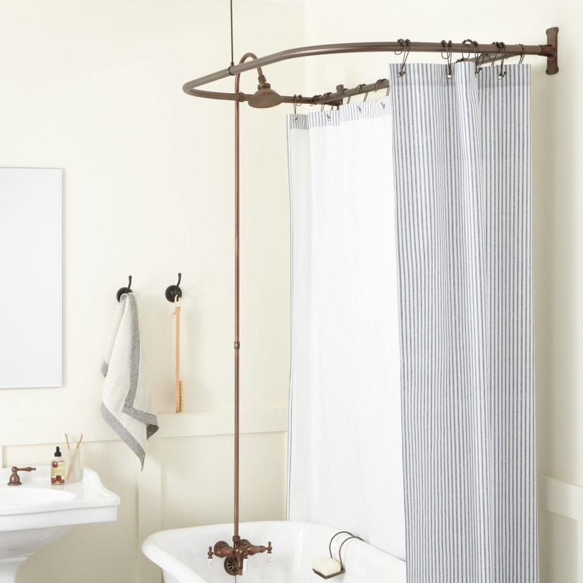 Clawfoot Tub Shower Curtain | Extra Wide Shower Liner | Shower Curtains For Claw Foot Tubs