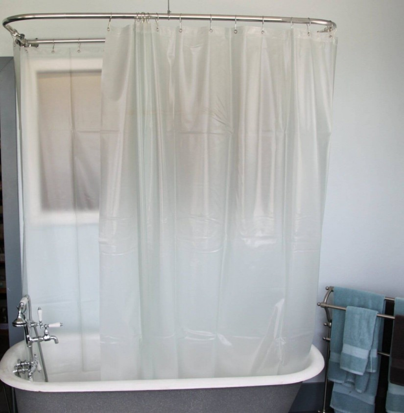Clawfoot Tub Shower Curtain | Shower Curtain Rod Clawfoot Tub | Tub Curtain Surround