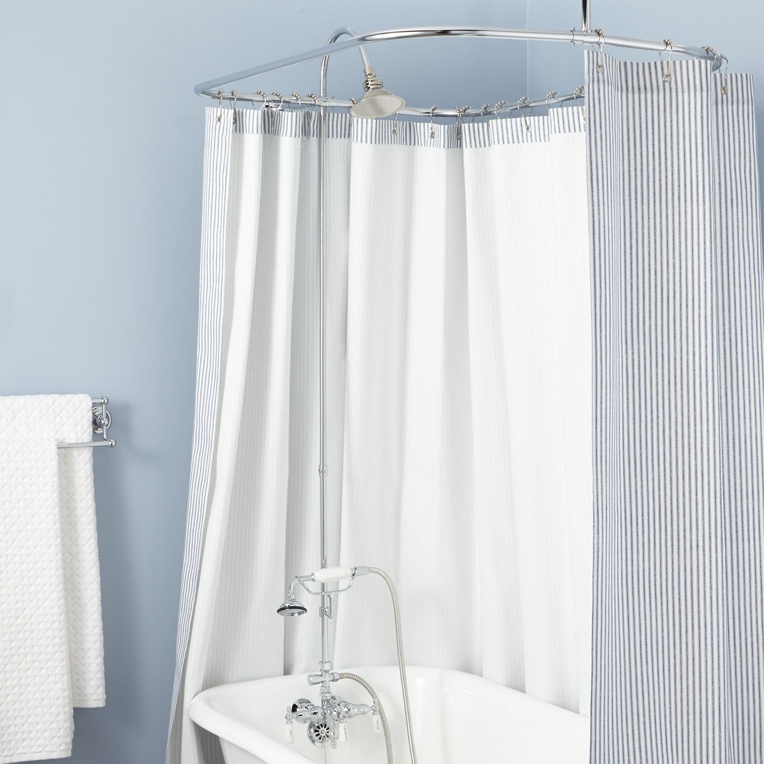 Clawfoot Tub Shower Curtain | Shower Curtains for Claw Foot Tubs | Clawfoot Tub Shower Curtain Rod You Can Make Yourself