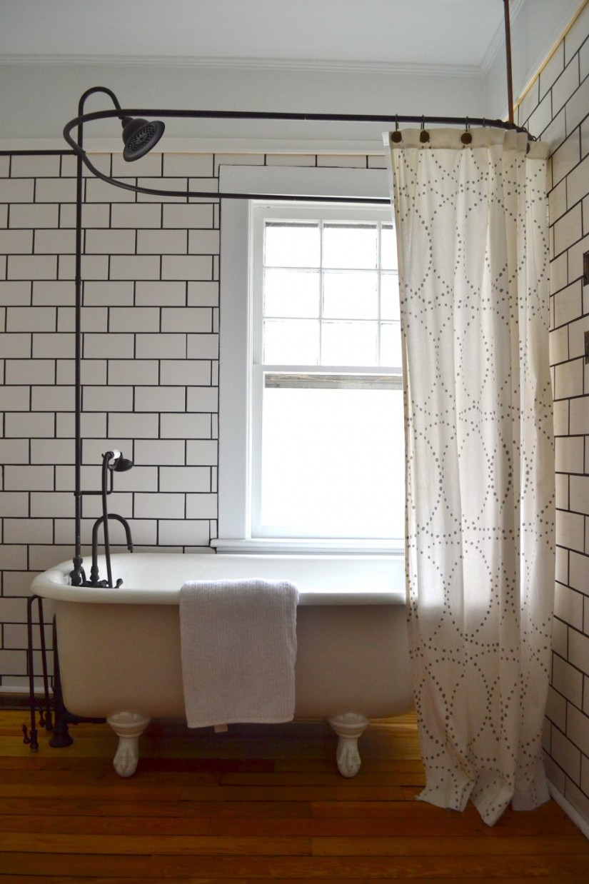 Clawfoot Tub Shower Curtain | Shower Rings For Clawfoot Tubs | Shower Curtain Rod For Clawfoot Bathtub