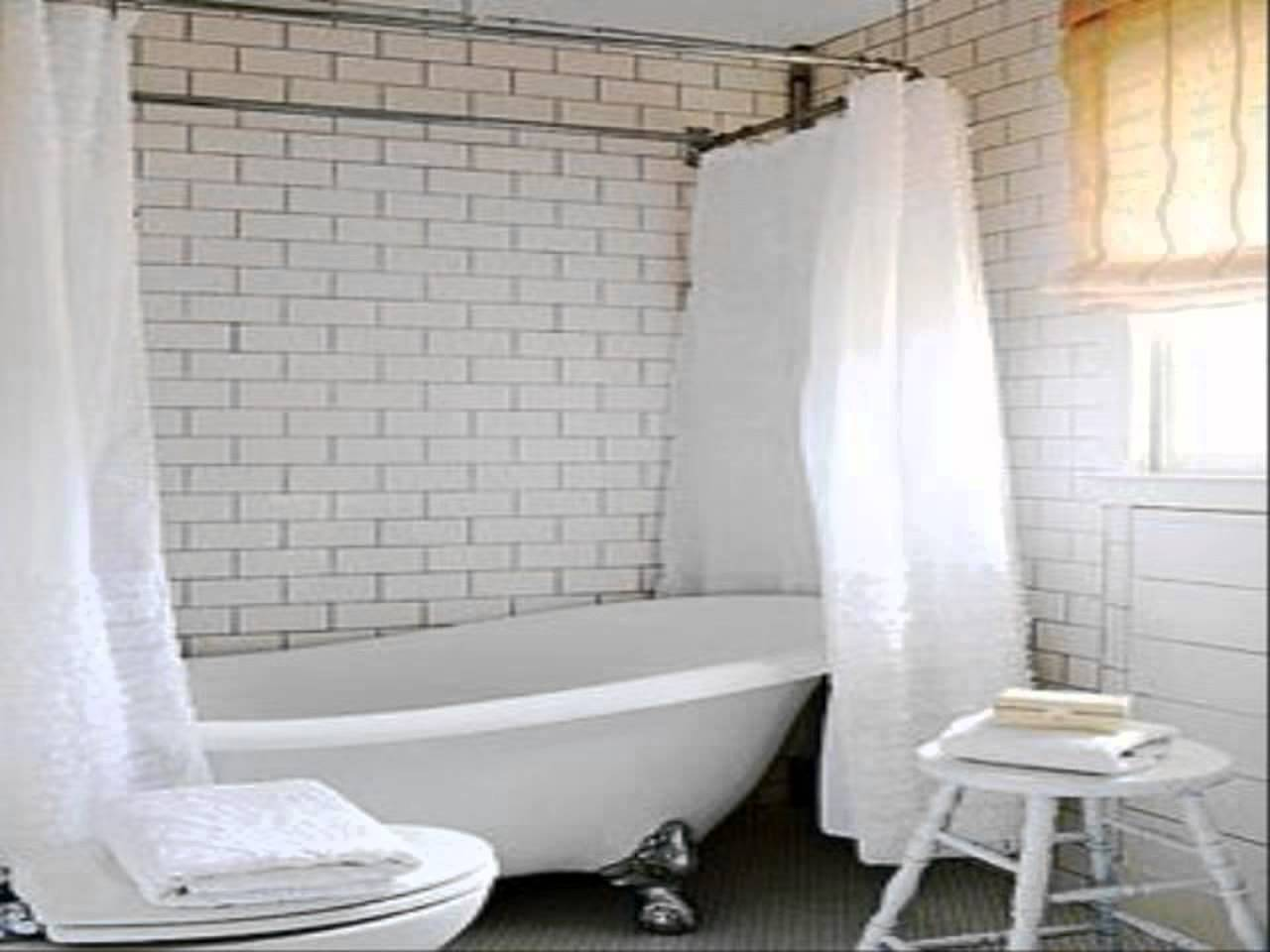 Clawfoot Tub Shower Curtain Solution | Clawfoot Tub Shower Curtain | Wrap Around Shower Curtains
