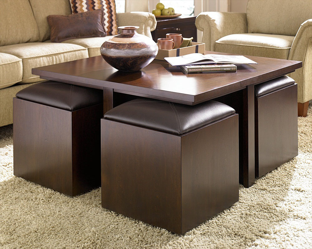 Cocktail Table Ottoman | Coffee Table Ottoman Combination | Large Ottoman Coffee Table