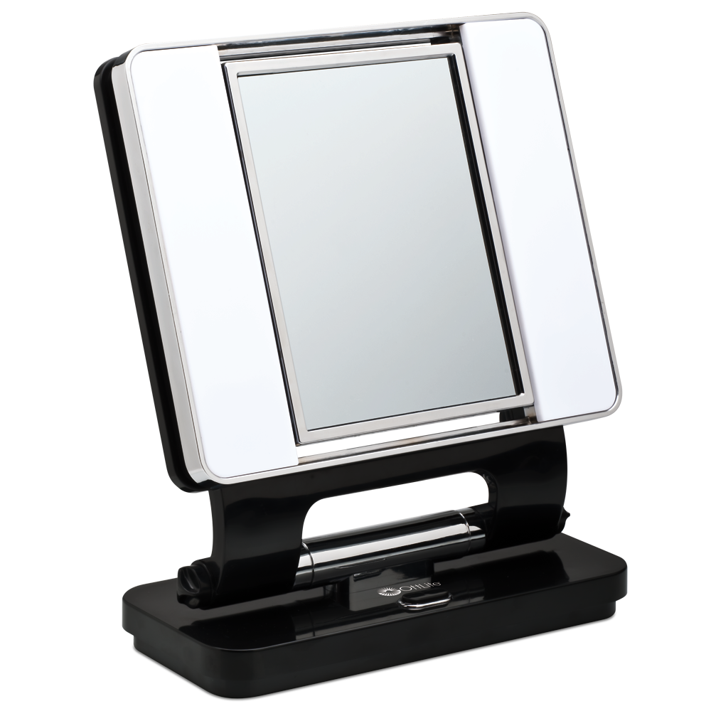 Conair Two-sided Makeup Mirror with 4 Light Settings | Conair Lighted Makeup Mirror | Lighted Makeup