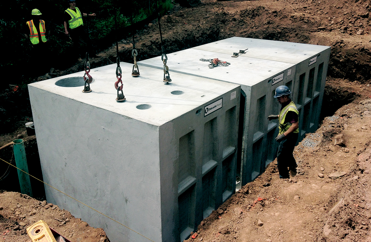 Concrete 4x4 Post Base | Menards Concrete Blocks | Precast Concrete Piers