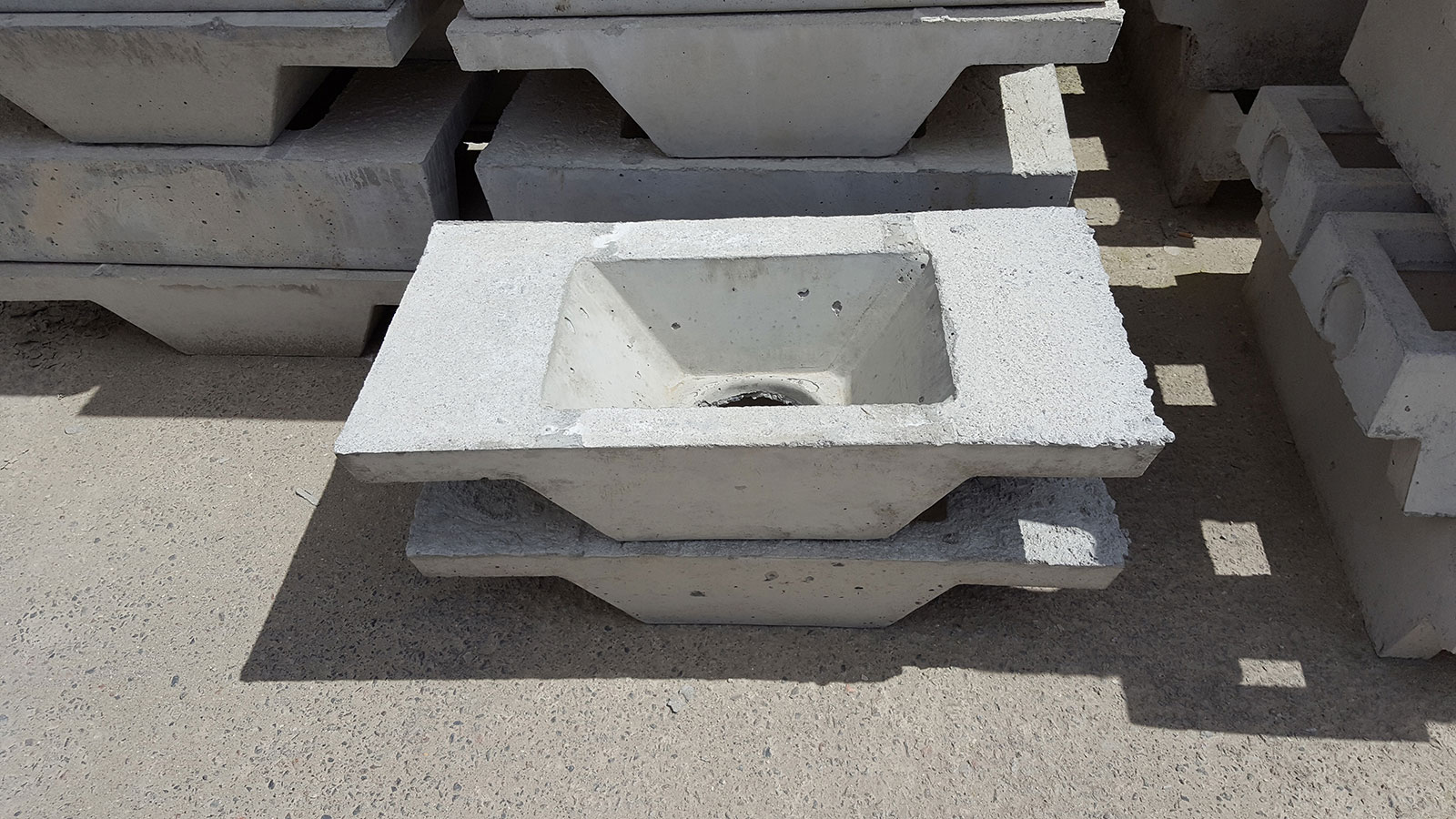 Concrete Block for 4x4 Post | Precast Concrete Piers | Precast Concrete Post Footings