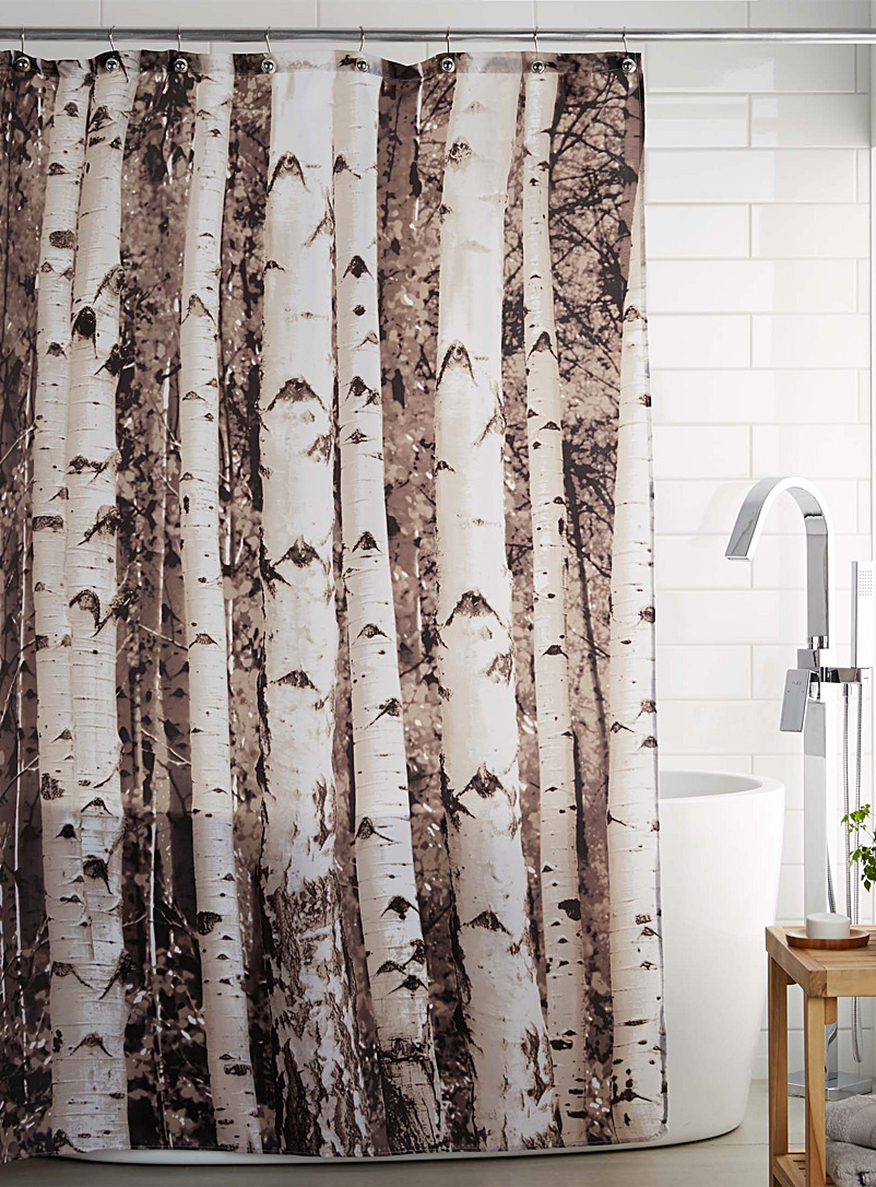 Coral Shower Curtain | Forest Green Shower Curtain | Floral Shower Curtain