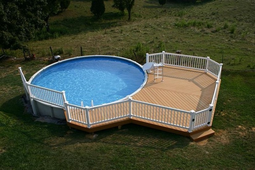 Cost Of Above Ground Pool With Installation | Semi Inground Pool Ideas | High End Above Ground Pools