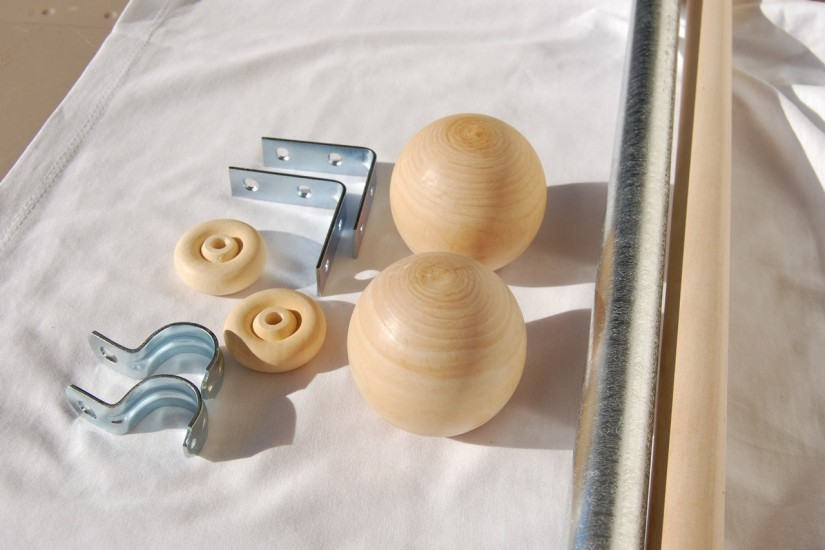 Crystal Drapery Finials | Finials For Curtain Rods | Curtain Pole Finials