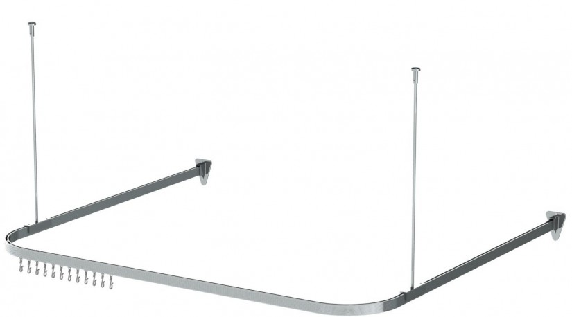 Curtain Rod Corner Connector | Curtain Rods At Lowes | Curtain Track Lowes