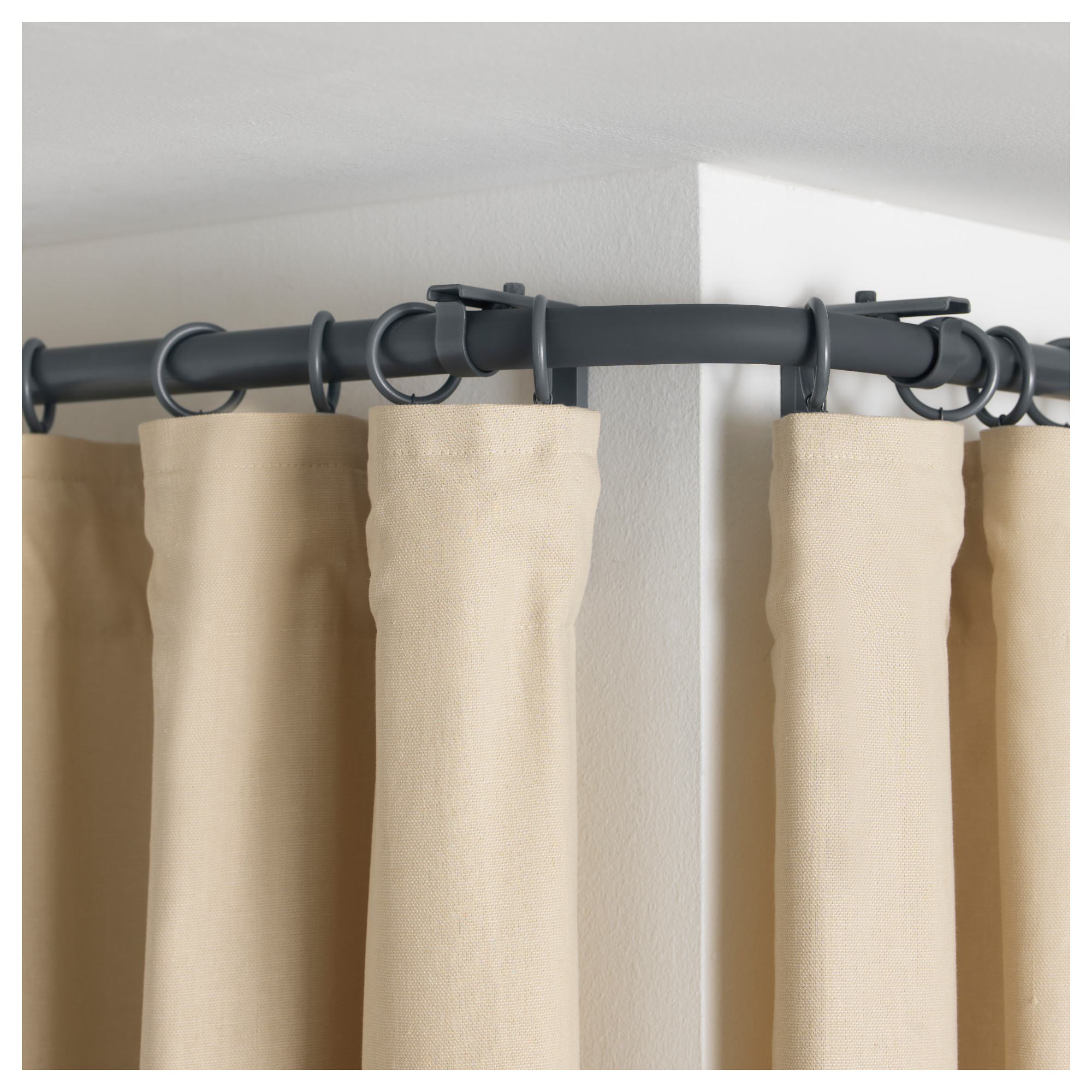 lowes adjustable curtains treatments full mounted corner ceiling curtain size window rods