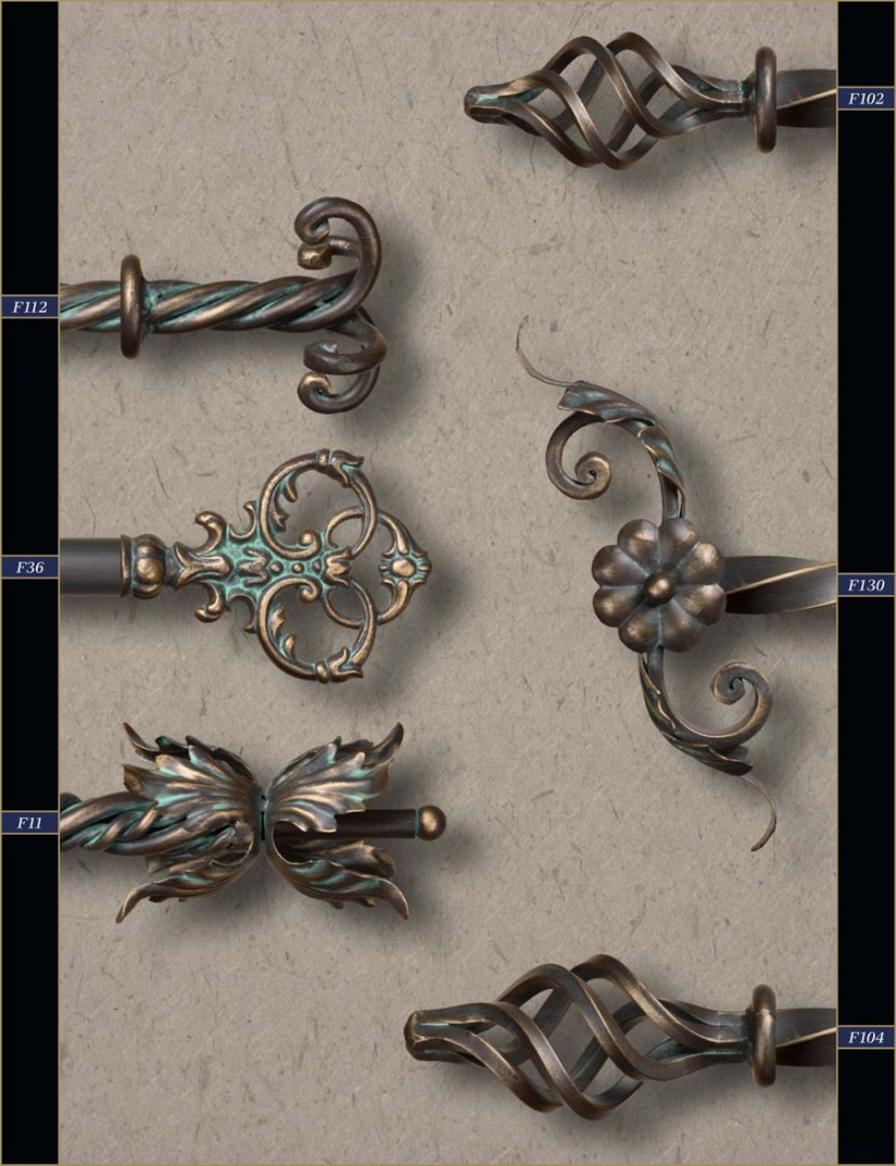 Curtain Rods And Finials | Finials For Curtain Rods | Curtain Rod End Caps