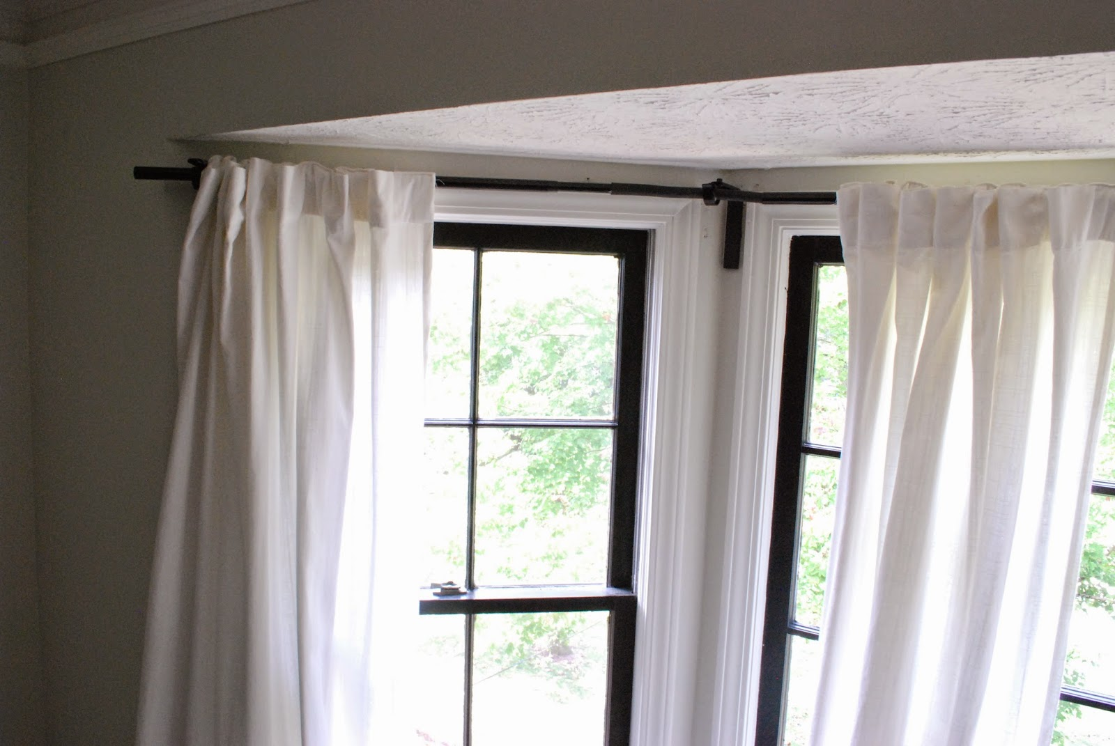 Curtain Track Lowes | Curtain Rod Corner Connector | Home Depot Bay Window Curtain Rod