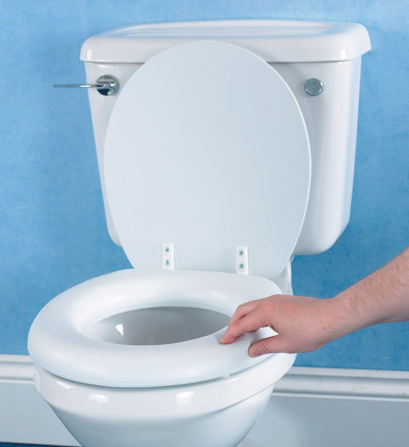 Cushioned Toilet Seats | Home Depot Toilet Seat Covers | Padded Toilet Seat Elongated Bone