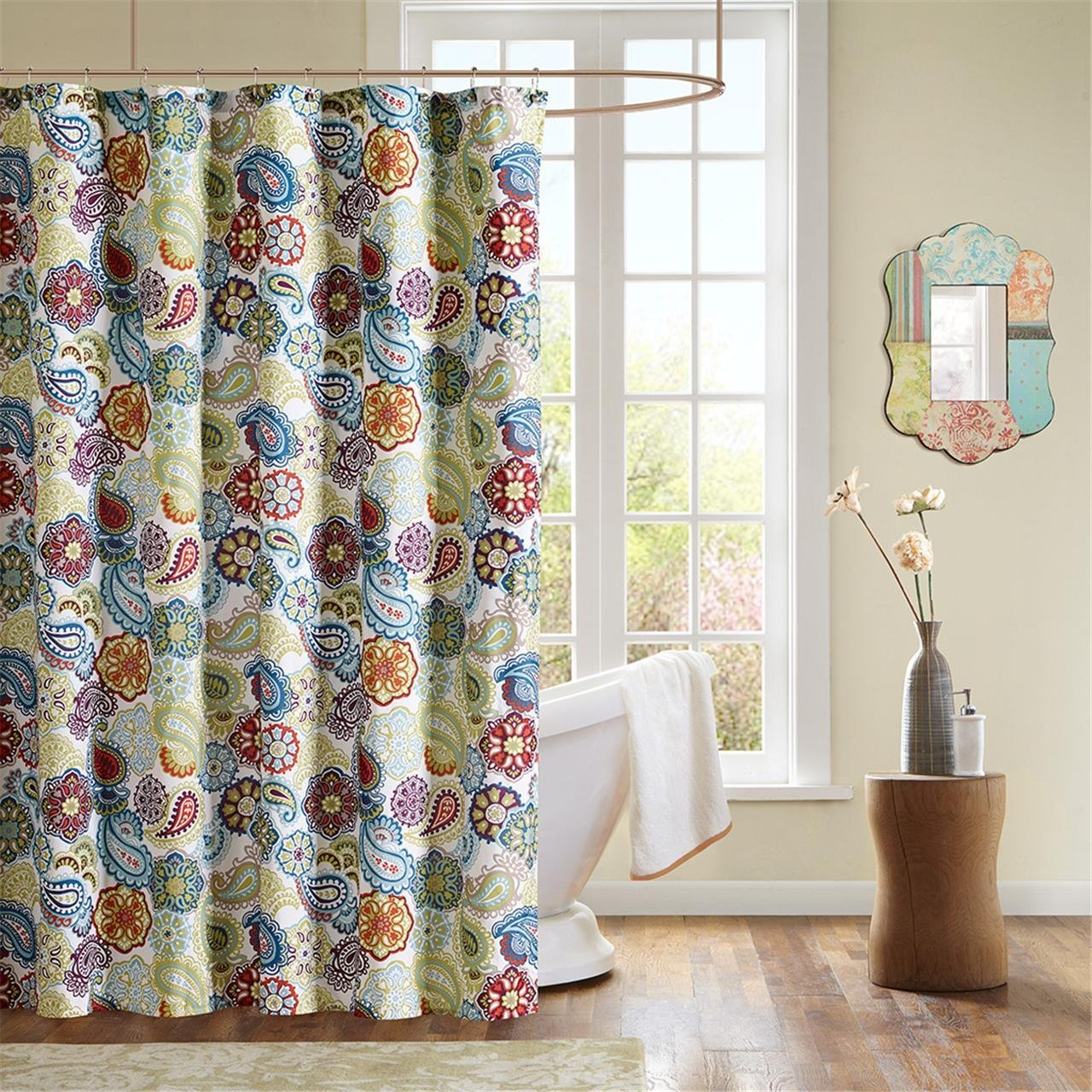 Beautiful Bathroom Decor Ideas with Floral Shower Curtain: Cute Cheap Shower Curtains | Ruffle Shower Curtain Pink | Floral Shower Curtain