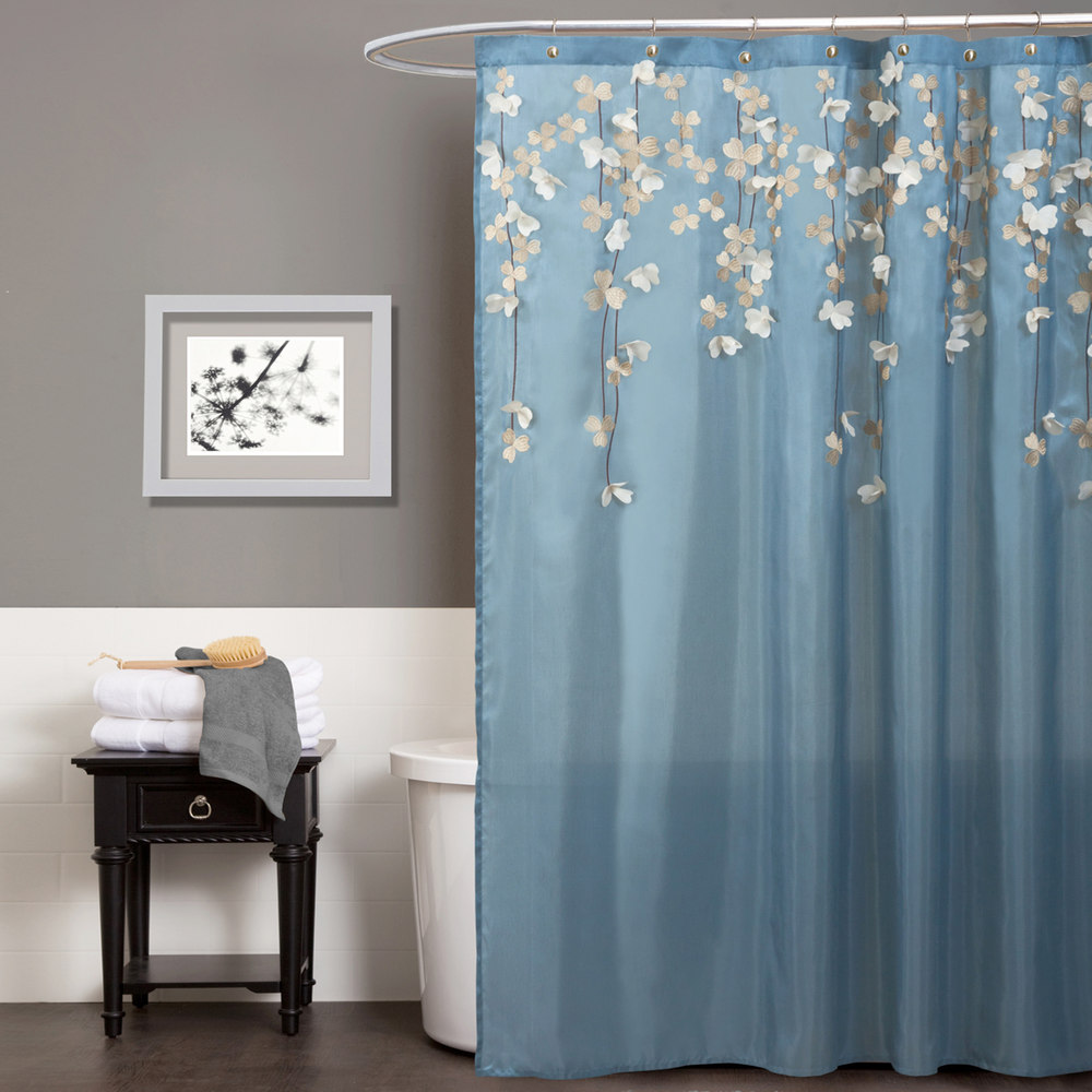 Daisy Shower Curtain | Floral Shower Curtain | Tribal Shower Curtain
