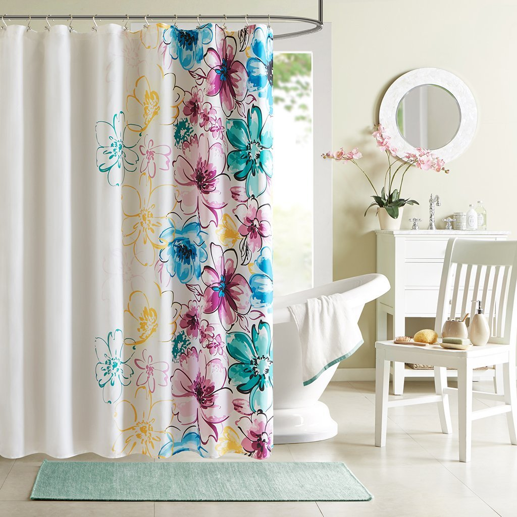 Daisy Shower Curtains | Floral Shower Curtain Target | Floral Shower Curtain