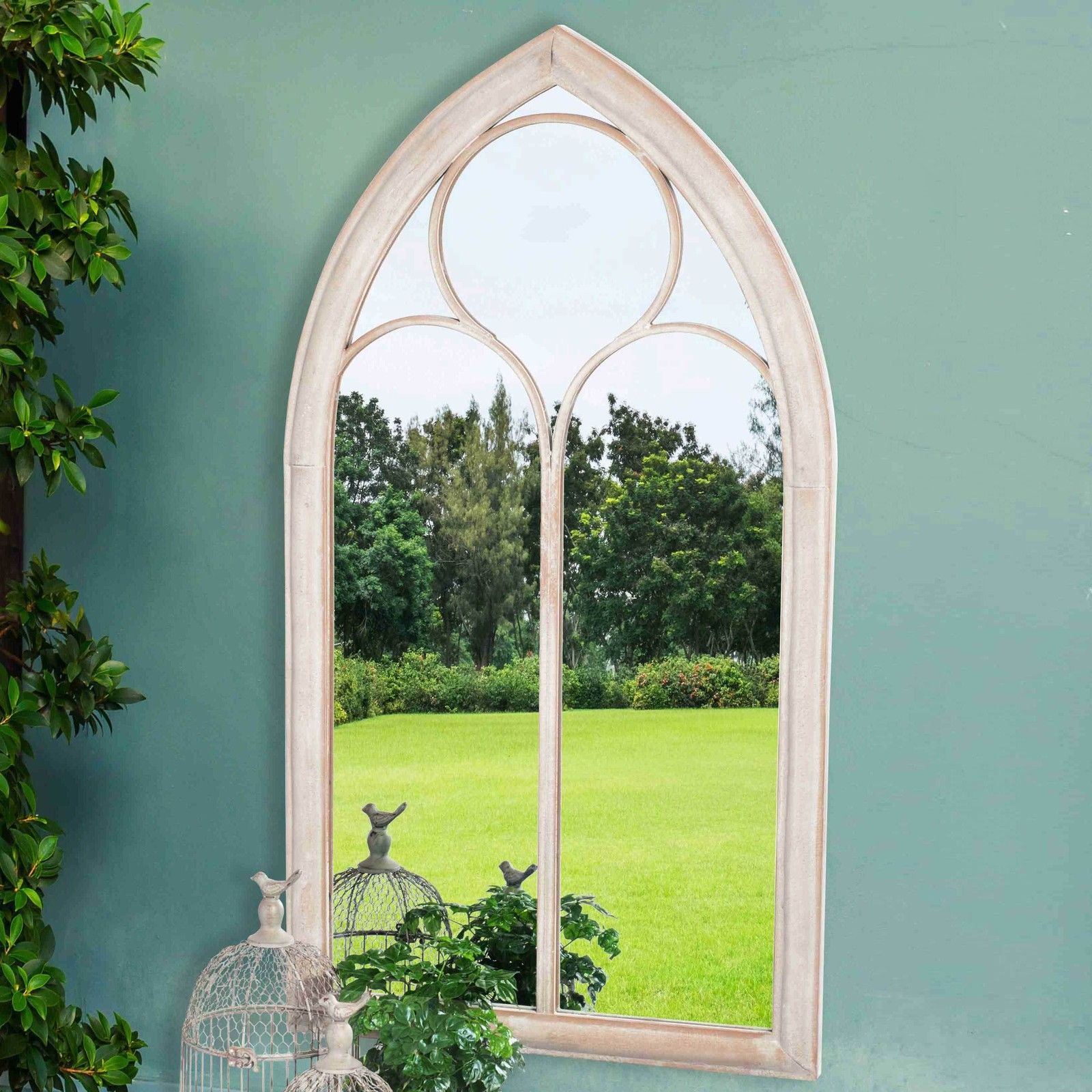 Decorative Full Length Wall Mirrors | Windowpane Mirror | Moroccan Wall Mirror