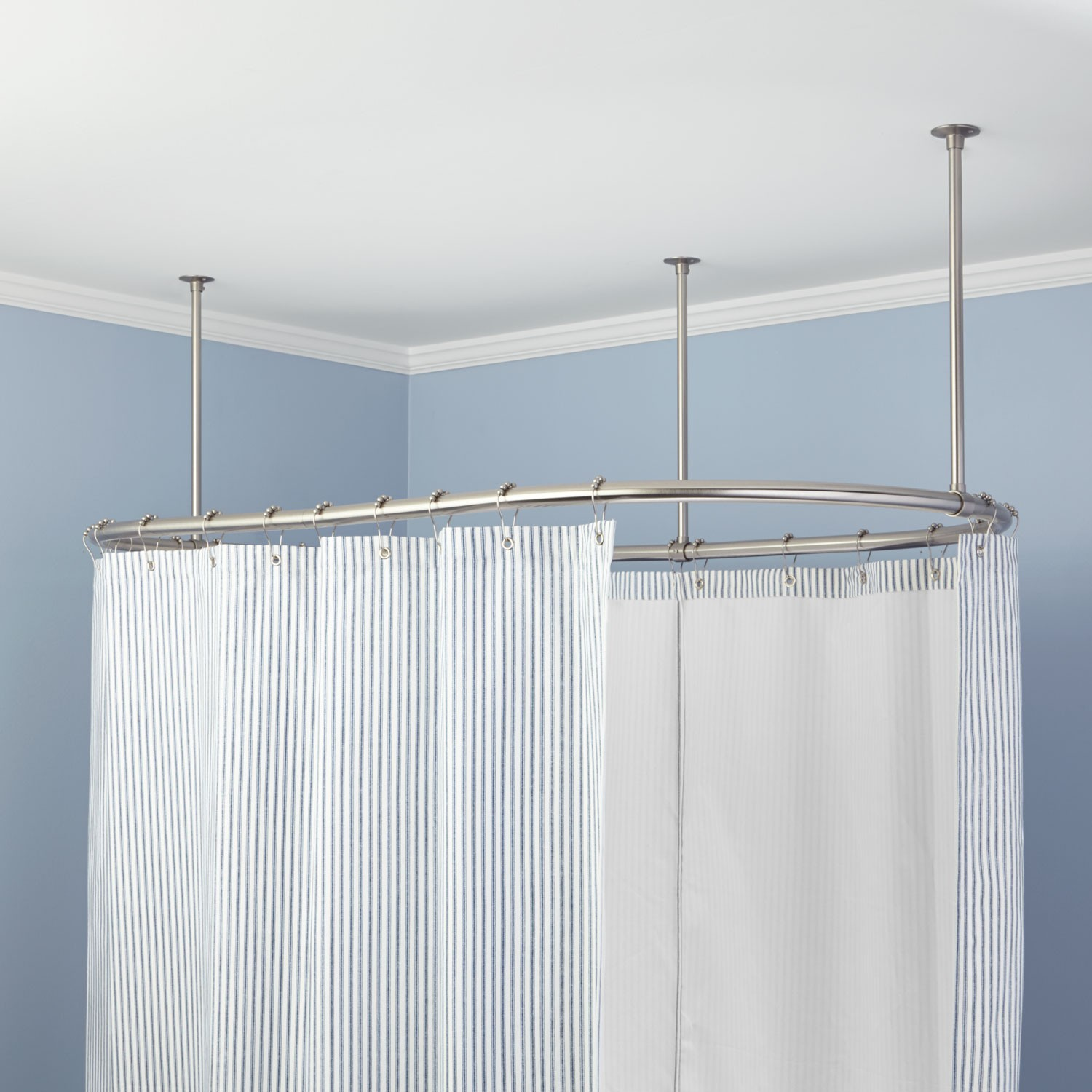 Diy Clawfoot Tub Shower Curtain Rod | Clawfoot Tub Shower Curtain | Shower Rod for Freestanding Tub