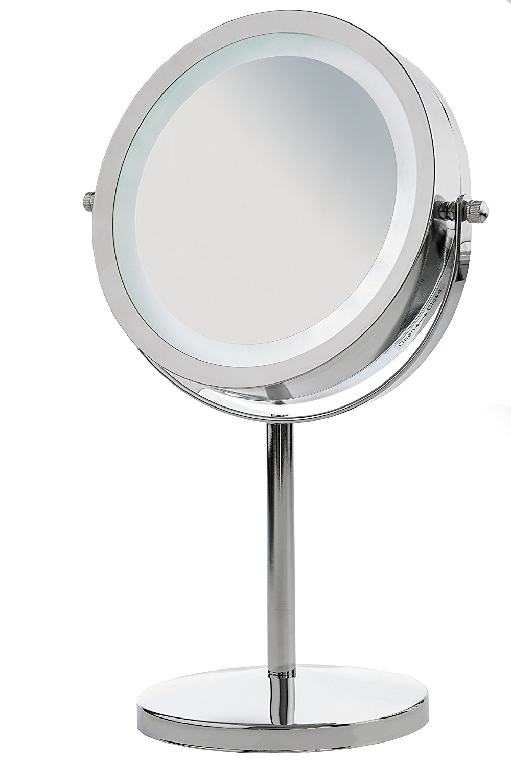 Double Sided Magnifying Mirror | Makeup Mirror with Lights Walmart | Conair Lighted Makeup Mirror