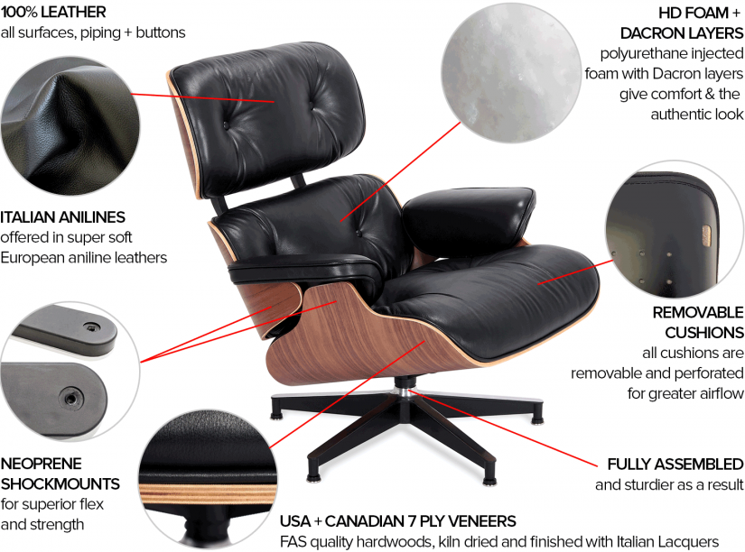 Eames Lounge Chair And Ottoman | Ray And Charles Eames Lounge Chair | Charles & Ray Eames Lounge Chair