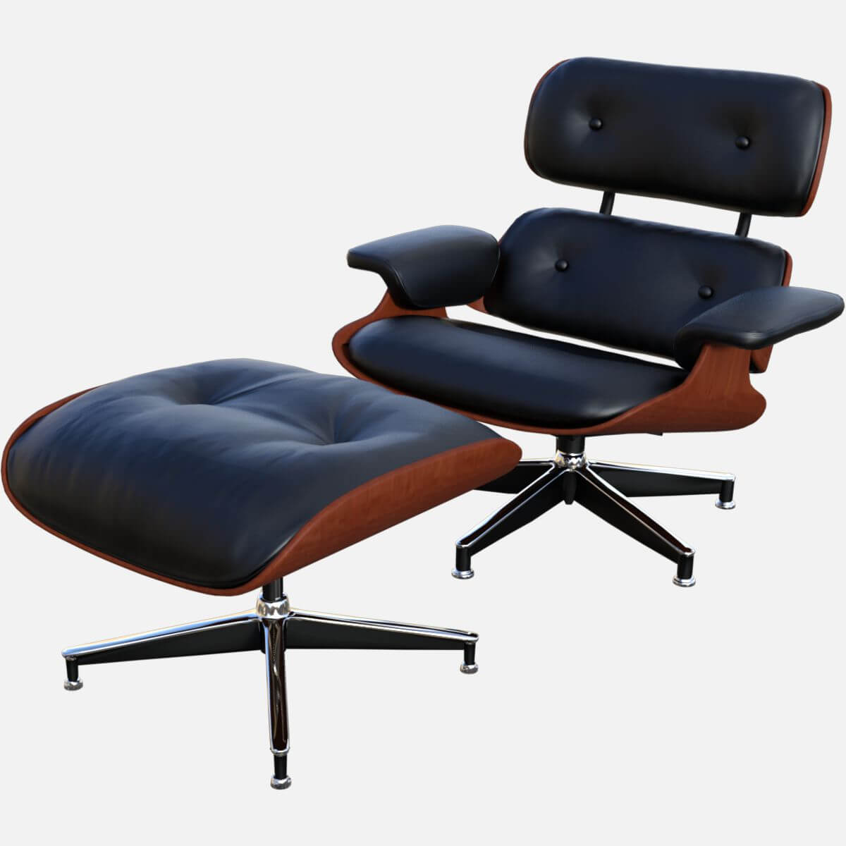 furniture eames style lounge chair and ottoman eames longe chair