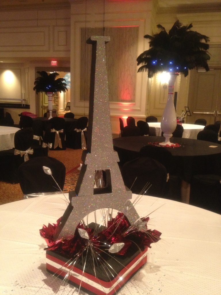 Eiffel Tower Centerpieces | Eiffel Tower Standing Decoration | Eiffel Tower Centerpieces For Quinceaneras