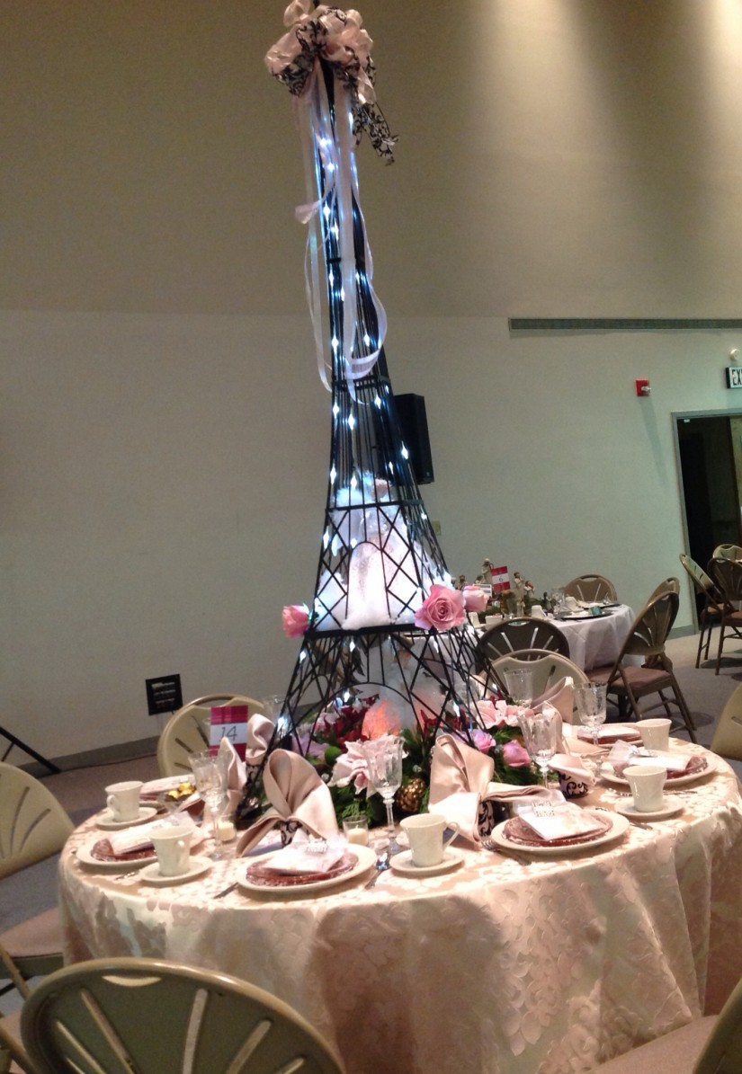 Eiffel Tower Centerpieces | Small Eiffel Tower Figurine | Paris Themed Quinceanera Ideas