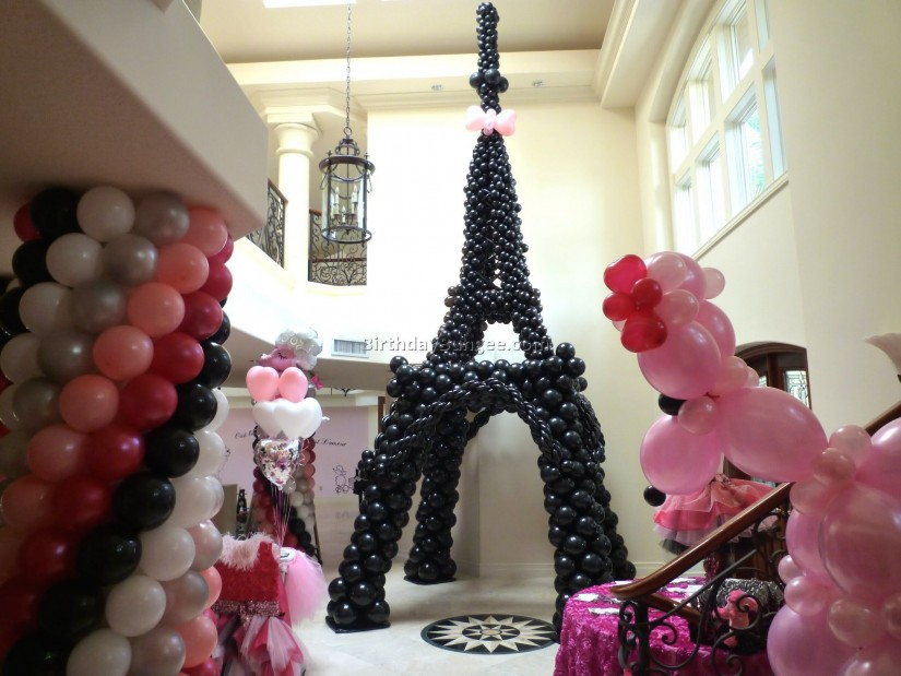 Eiffel Tower Feather Centerpiece | Eiffel Tower Table Centerpieces | Eiffel Tower Centerpieces