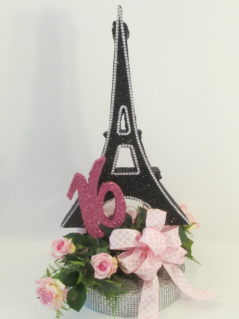 Eiffel Tower Flower Arrangements | Feather Eiffel Tower Centerpieces | Eiffel Tower Centerpieces