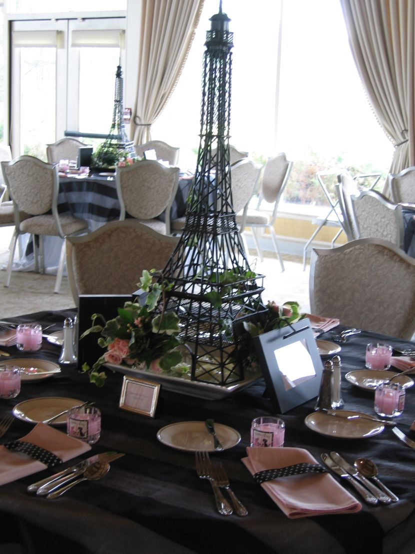 Eiffel Tower Statues | Eiffel Tower Centerpieces | Styrofoam Eiffel Tower