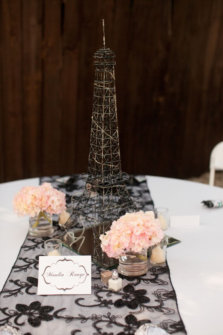 Eiffel Tower Wire Sculpture | Paris Quinceanera Theme | Eiffel Tower Centerpieces