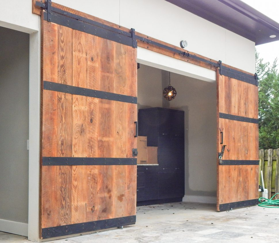Exterior Sliding Barn Door Hardware | Double Track Sliding Barn Doors | Bypass Barn Doors