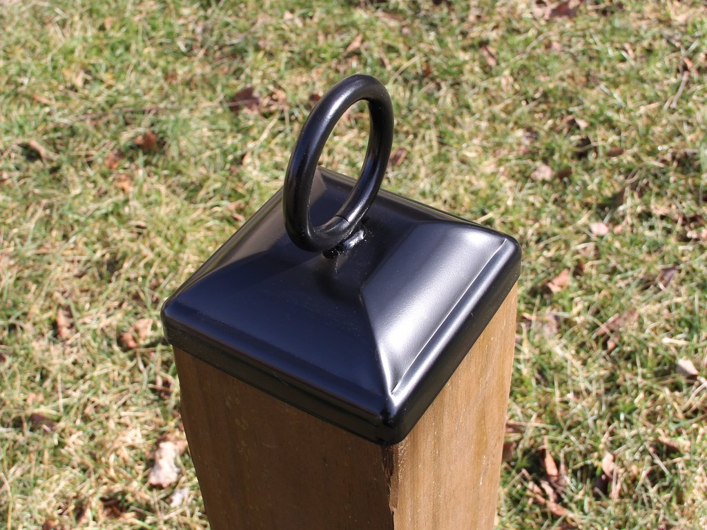 Fence Post Solar Light Caps 6x6 | Pyramid Fence Post Caps | Post Caps 6x6