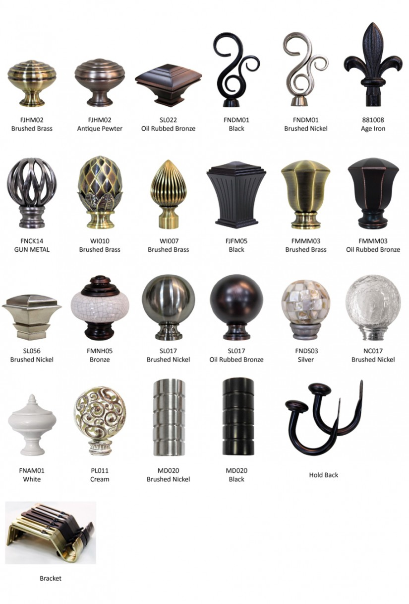 Finials For Curtain Rods | Replacement Finials | Finials Curtain