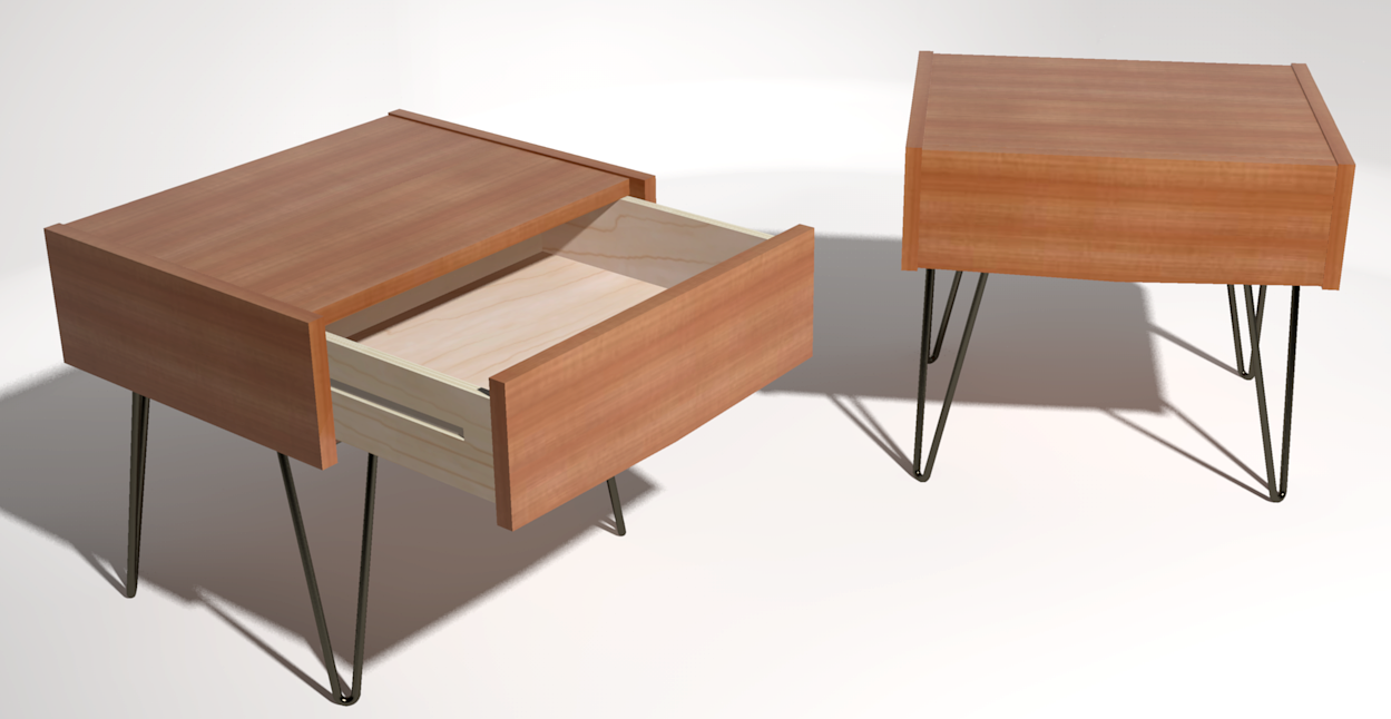 Floating Drawer Nightstand | Walnut Nightstands | Modern Bedside Tables