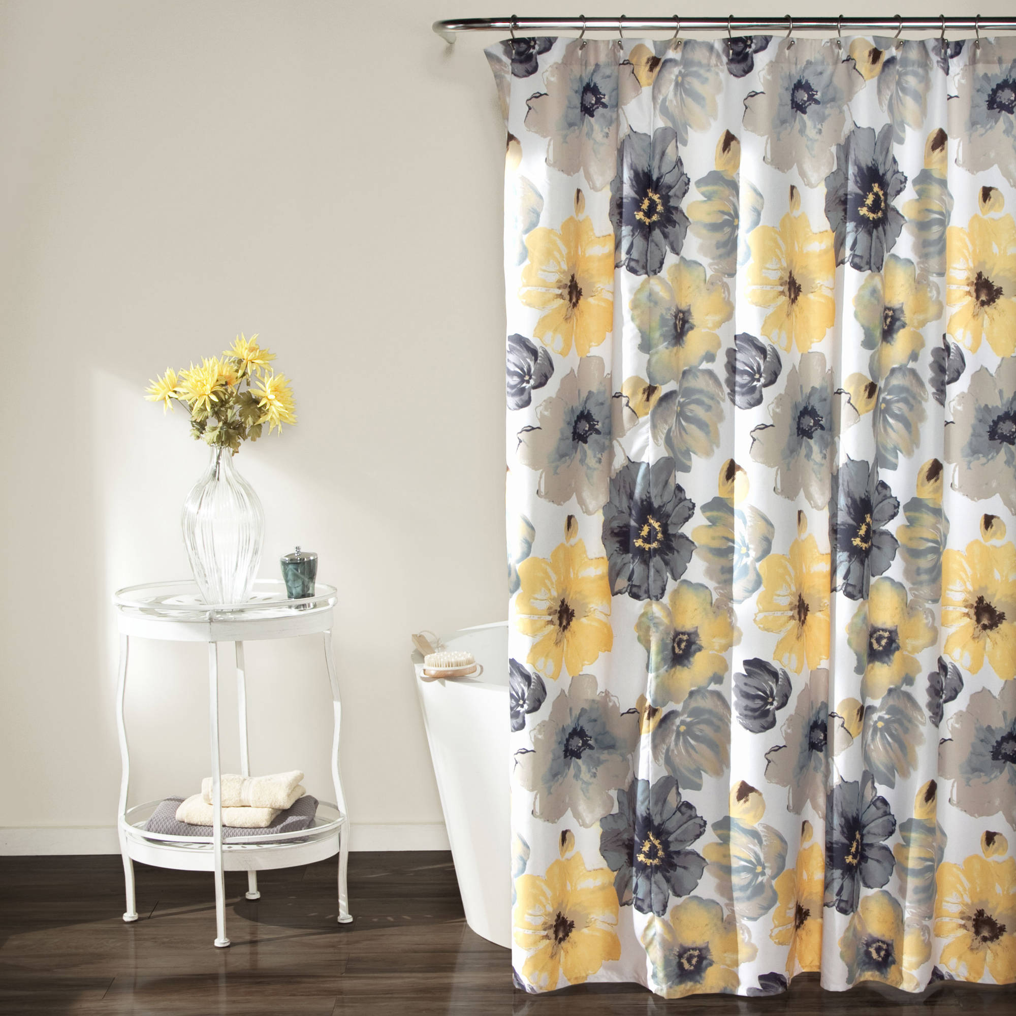 Floral Shower Curtain | Botanical Shower Curtains | Boho Shower Curtain