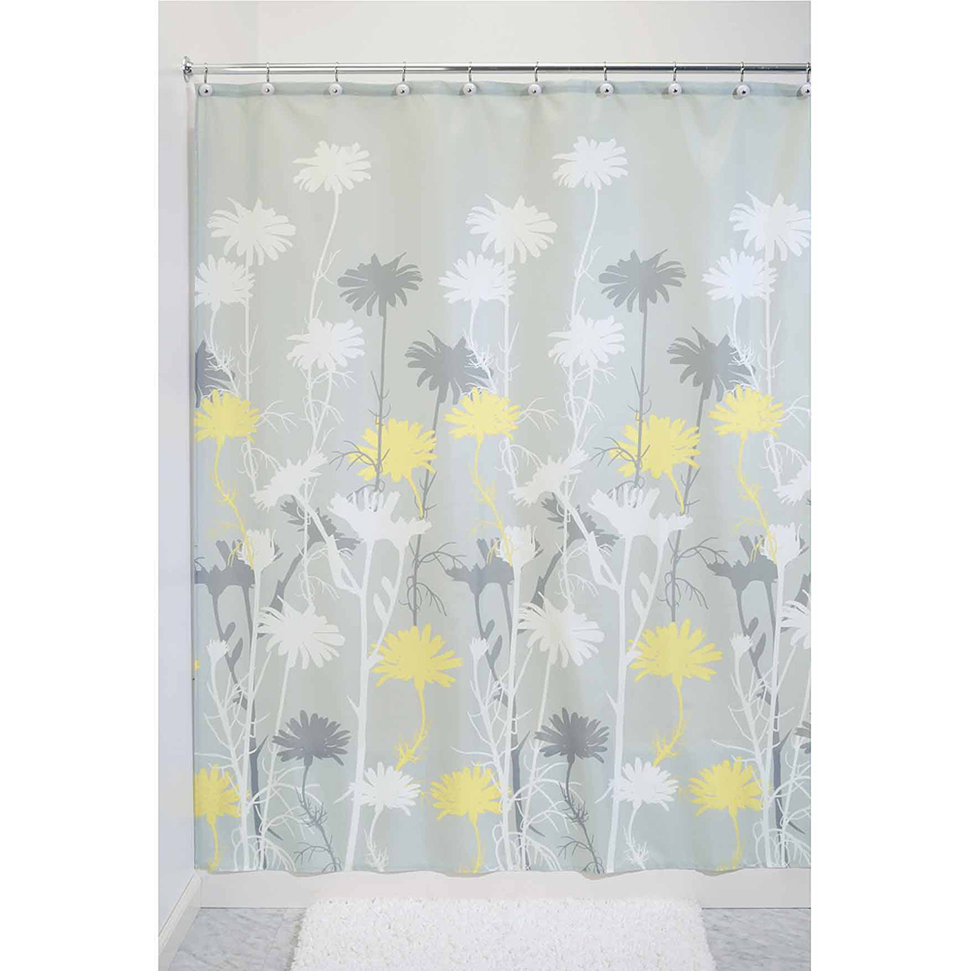 Beautiful Bathroom Decor Ideas with Floral Shower Curtain: Floral Shower Curtain | Daisy Shower Curtains | Shower Curtains Floral Print