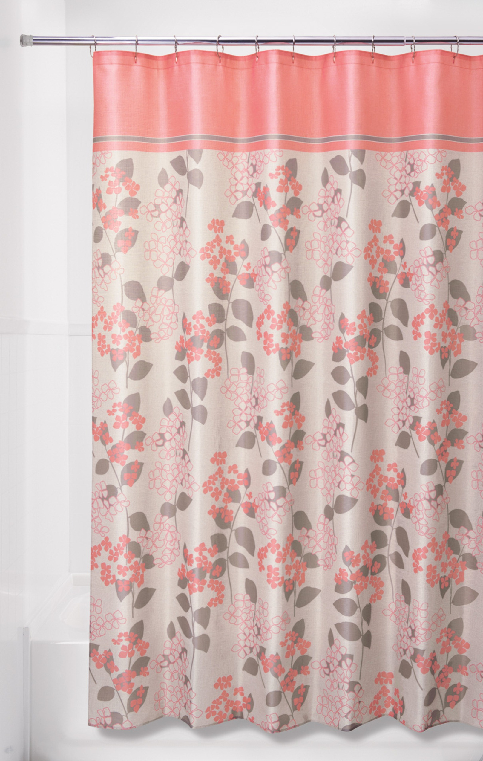 Floral Shower Curtain | Dark Green Shower Curtain | Neutral Shower Curtains