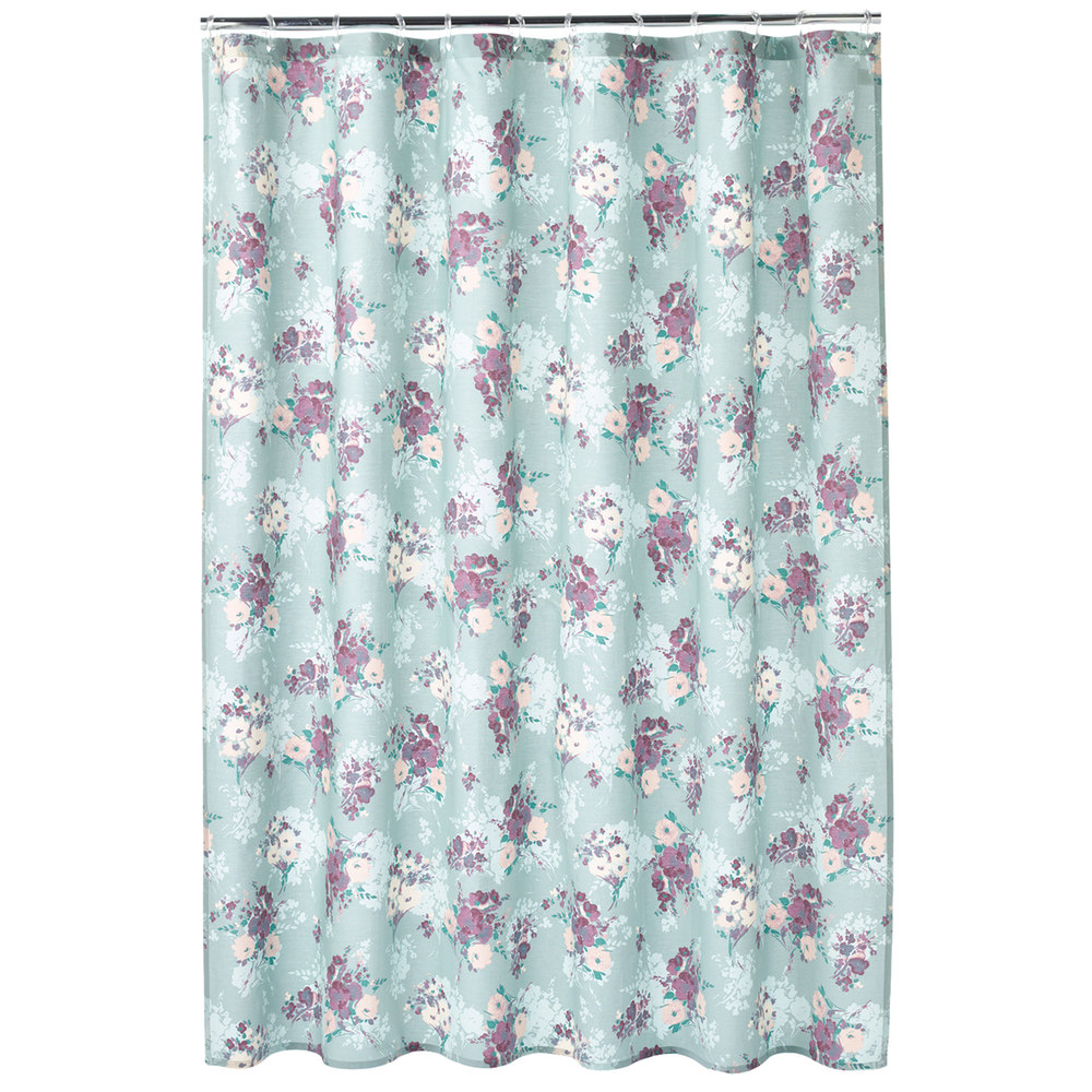 Floral Shower Curtain | Floral Shower Curtain | Orange Brown Shower Curtain
