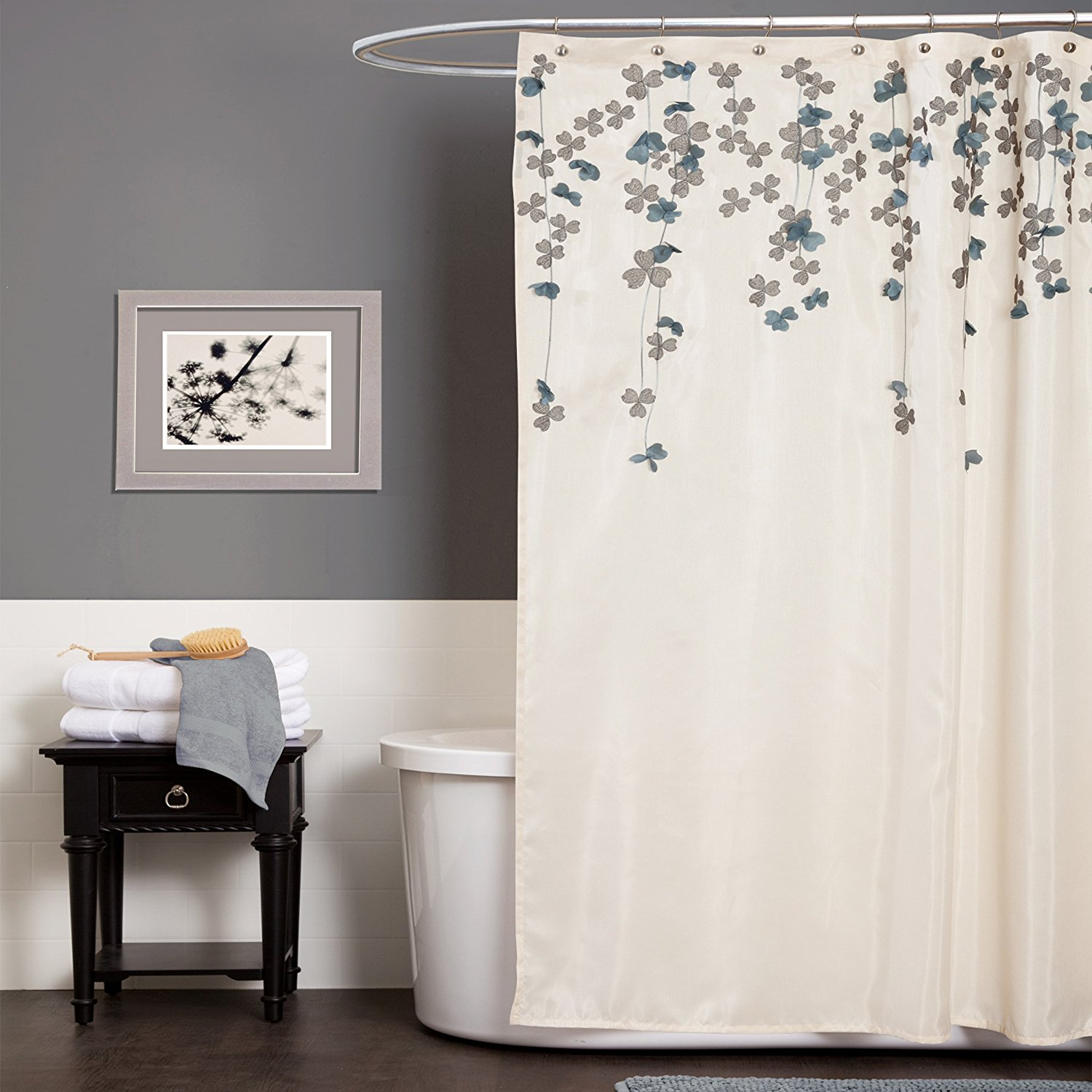 Beautiful Bathroom Decor Ideas with Floral Shower Curtain: Floral Shower Curtain | Floral Shower Curtain | Shower Curtain Free Shipping