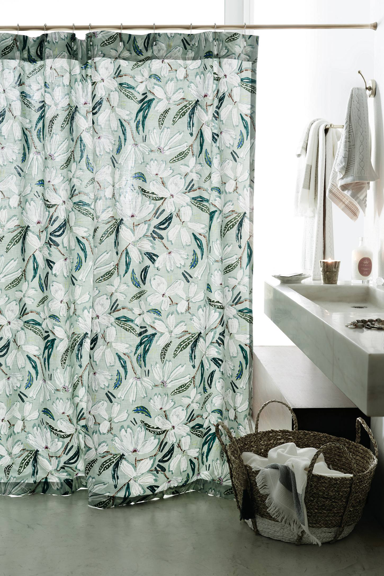 Floral Shower Curtain | Funky Shower Curtains | Floral Print Shower Curtain