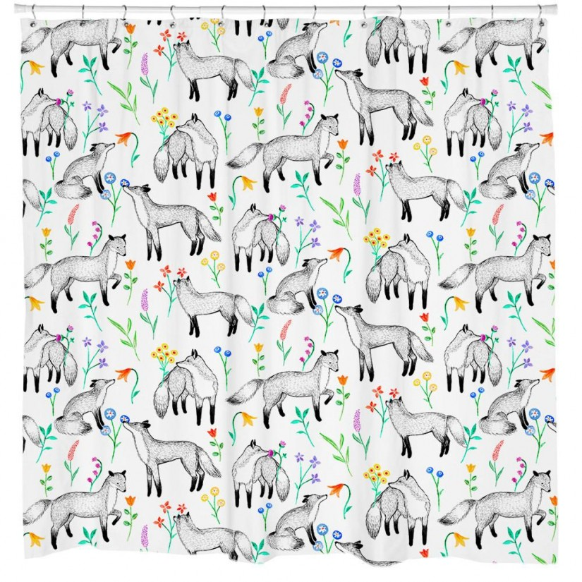 Floral Shower Curtain | India Shower Curtain | Americana Shower Curtains