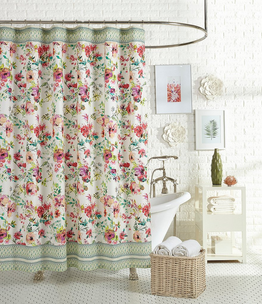 Floral Shower Curtain | Lime Green Shower Curtains | Specialty Shower Curtains