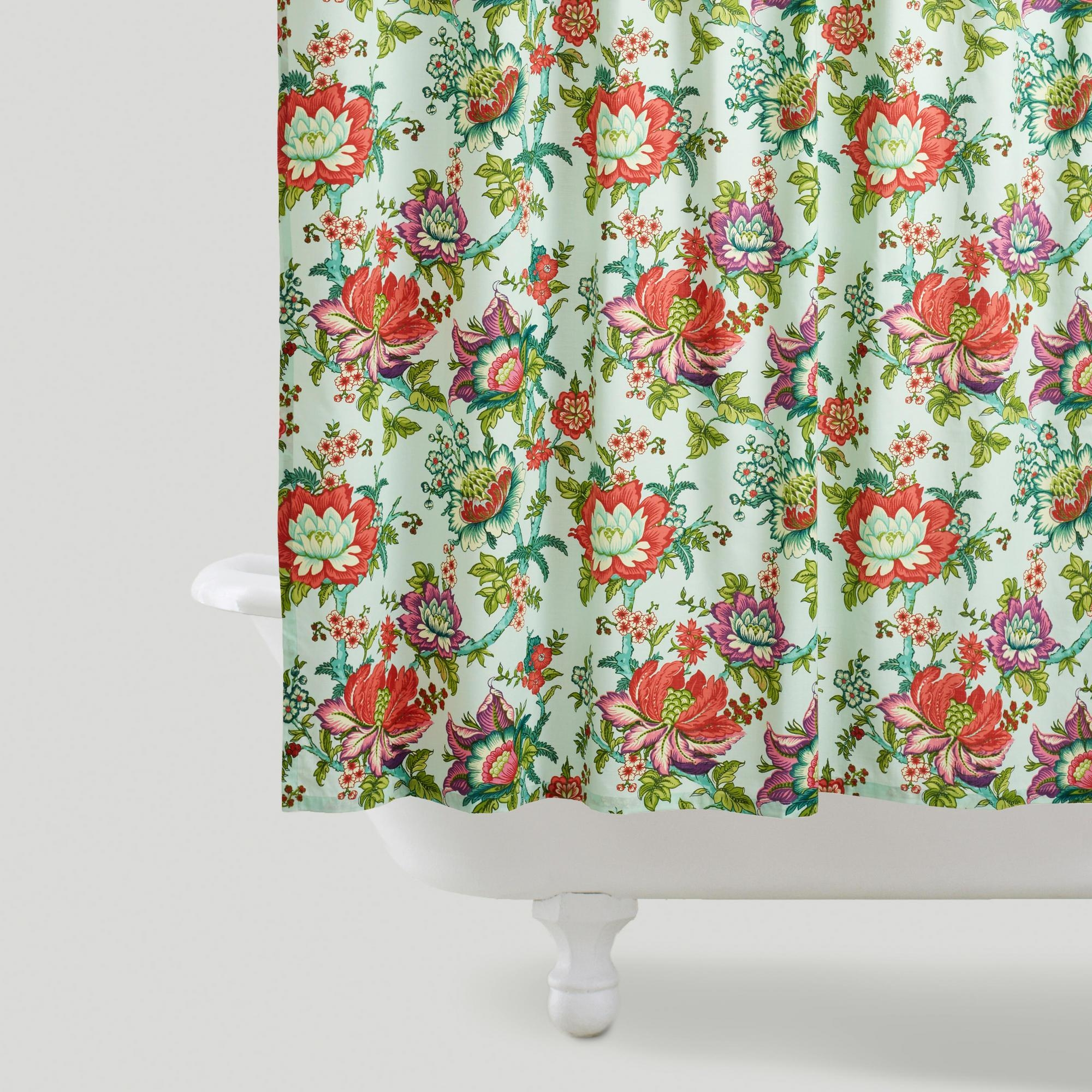 Beautiful Bathroom Decor Ideas with Floral Shower Curtain: Floral Shower Curtain | Mens Shower Curtain | Tapestry Shower Curtain