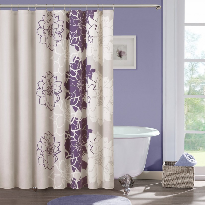 Floral Shower Curtain | Modern Shower Curtains | Shower Curtain Floral